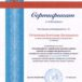 Сертификат о публикации статьи «Игровая работа с одаренными детьми в рамках занятий по внеурочной деятельности»